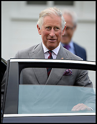 HRH The Prince of Wales leaves Guards Polo club after England beat The USA in the  Audi International Polo 2013-Westchester Cup Polo match Audi England v Equus & Co USA at the <br /> Guards Polo Club, Egham, United Kingdom,<br /> Sunday, 28th July 2013<br /> Picture by Andrew Parsons / i-Images
