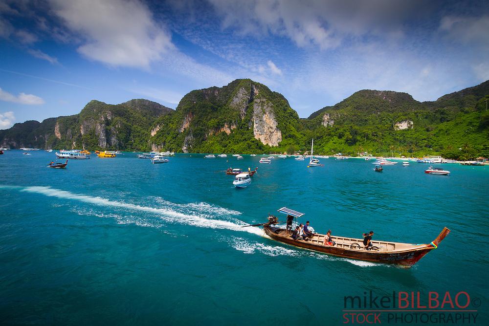 Ton Sai Bay. Phi Phi Don island. Krabi province, Andaman Sea, Thailand.
