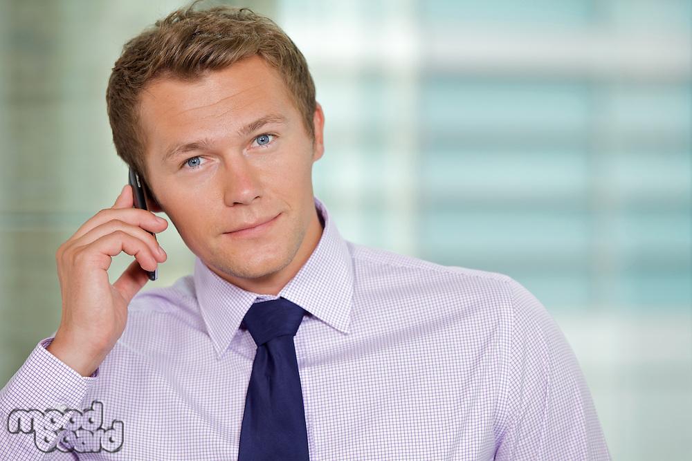 Portrait of businessman at office
