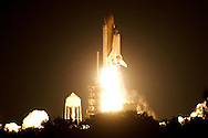 Space Shuttle Endeavour lifts off of launch pad 39-A at Kennedy Space Center November 23, 2002. The mission, which has been delayed since October, is carrying a truss for the International Space Station. (Photo by Matt Stroshane / Getty Images)