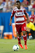 FRISCO, TX - JUNE 26:  Fabian Castillo #11 of FC Dallas brings the ball up field against the Portland Timbers on June 26, 2013 at FC Dallas Stadium in Frisco, Texas.  (Photo by Cooper Neill/Getty Images) *** Local Caption *** Fabian Castillo