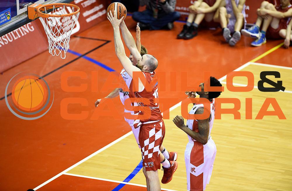 Andrea Crosariol<br /> Grissin Bon Pallacanestro Reggio Emilia - The Flexx Pistoia Basket<br /> Lega Basket Serie A 2016/2017<br /> Reggio Emilia, 30/04/2017<br /> Foto A.Giberti / Ciamillo - Castoria