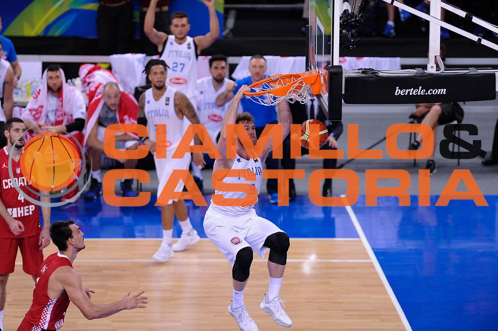 DESCRIZIONE: Torino FIBA Olympic Qualifying Tournament Italia - Croazia<br /> GIOCATORE: Niccolo Melli<br /> CATEGORIA: Nazionale Italiana Italia Maschile Senior<br /> GARA: FIBA Olympic Qualifying Tournament Italia - Croazia<br /> DATA: 05/07/2016<br /> AUTORE: Agenzia Ciamillo-Castoria