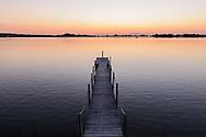 Pier, Dusk,  Sag Harbor Cove, Sag Harbor, Long Island, New York