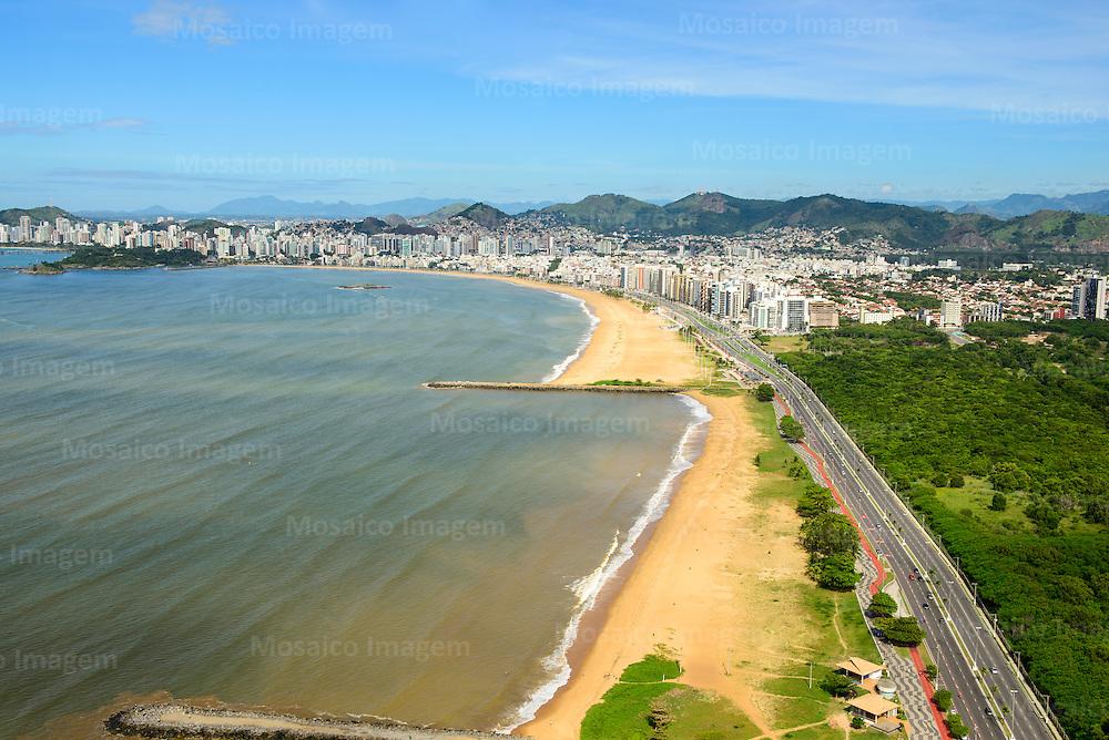 Brasil - Espirito Santo - Vitoria - Vista aerea da Praia de Camburi - Foto: Gabriel Lordello/ Mosaico Imagem