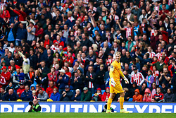 Joe Hart of Manchester City looks on in front of the Stoke fans - Photo mandatory by-line: Rogan Thomson/JMP - 07966 386802 - 30/08/2014 - SPORT - FOOTBALL - Manchester, England - Etihad Stadium - Manchester City v Stoke City - Barclays Premier League.
