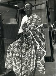 Aug. 06, 1958 - Prime Minister of Ghana goes to the Palace. Dr. Nkrumah in his Robes: Dr. Kwame Nkrumah, Prime Minister of Ghana who is in London on a five day visit - was received in audience by H.M. The Queen at Buckingham Palace this morning. Photo Shows Dr. Kwame Nkrumah in his native robes - when he left Grosvenor House for the Palace this morning. (Credit Image: © Keystone Press Agency/Keystone USA via ZUMAPRESS.com)