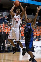 The Virginia Cavaliers Men's Basketball Team defeated Longwood University 90-49 at the John Paul Jones Arena in Charlottesville, VA on February 13, 2007.