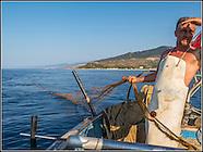Finale di Pollina: a pesca di todari con Antonio Macaluso