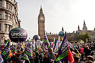 Trade Unions protest runs in central London
