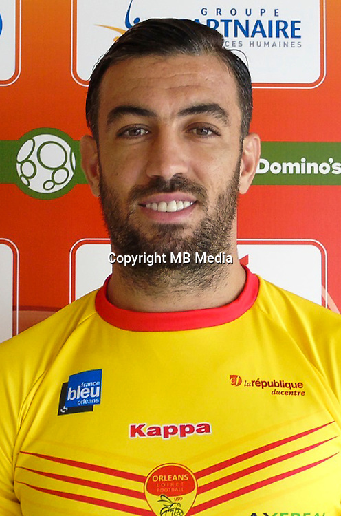 Esseid BELKALEM of Orleans during photo call of Us Orleans for new Ligue 2 season on September 29th 2016<br /> Photo : Uso / Icon Sport