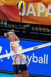 16-10-2018 JPN: World Championship Volleyball Women day 17, Nagoya<br /> Netherlands - China 1-3 / Maret Balkestein-Grothues #6 of Netherlands