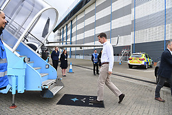 April 28, 2019 - London, London, United Kingdom - Jeremy Hunt Africa Tour. The Foreign Secretary Jeremy Hunt accompanied by his wife Lucia, board a plane at Stansted Airport before departing on his six day tour of Africa. (Credit Image: © Andrew Parsons/i-Images via ZUMA Press)