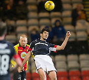 Dundee&rsquo;s Julen Etxabeguren and Partick Thistle's Ziggy Gordon - Partick Thistle v Dundee in the Ladbrokes Scottish Premiership at Firhill, Glasgow - Photo: David Young, <br /> <br />  - &copy; David Young - www.davidyoungphoto.co.uk - email: davidyoungphoto@gmail.com