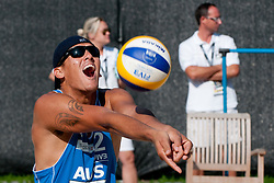 Isaac Kapa of Australia at A1 Beach Volleyball Grand Slam tournament of Swatch FIVB World Tour 2011, on August 3, 2011 in Klagenfurt, Austria. (Photo by Matic Klansek Velej / Sportida)