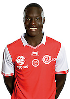 Aly Ndom of Reims during the photocall of Reims for new season of Ligue 2 on September 29th 2016 in Reims<br /> Photo : Stade de Reims / Icon Sport
