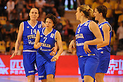 Vannes, 15/06/2013<br /> Eurobasket Women 2013<br /> Italia - Svezia<br /> Nella foto: giorgia sottana, kathrin ress, raffaella masciadri<br /> Foto Ciamillo