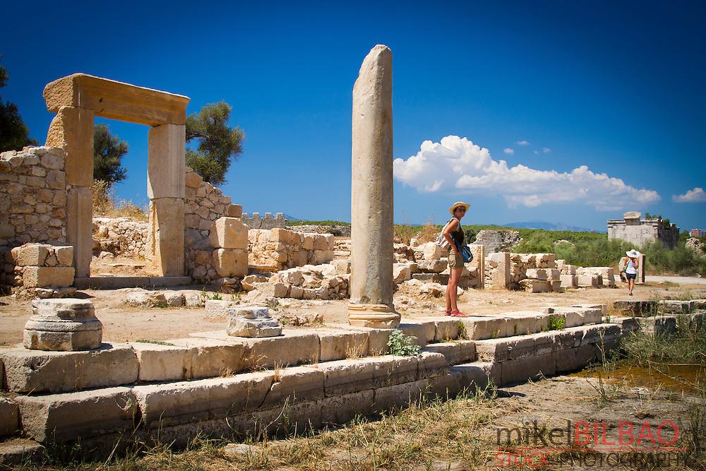Main street. Patara ruins. Antalya province. Mediterranean coast. Turkey.