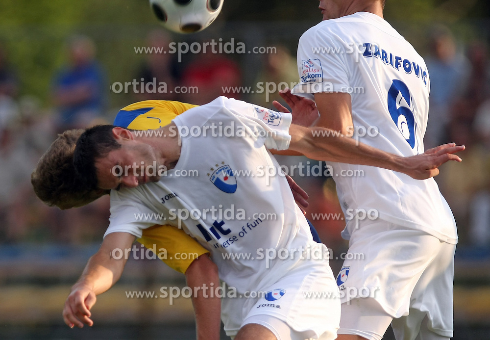 Ales Mertelj of Koper and Bojan Dukic of Gorica  at 2nd Round of PrvaLiga Telekom Slovenije between NK Koper vs NK Hit Gorica, on July 26, 2008, in SRC Bonifika stadium in Koper. Gorica won the mach 3:1. (Photo by Vid Ponikvar / Sportal Images)