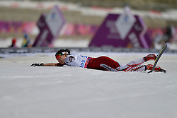 ABE Yurika competing in the Nordic Skiing XC Long Distance at the 2014 Sochi Winter Paralympic Games, Russia