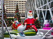 05 NOVEMBER 2017 - BANGKOK, THAILAND: Christmas decorations ready for installation on Bangkok's Central World, a large shopping mall in the center of the city.      PHOTO BY JACK KURTZ