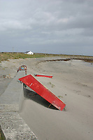 Beach on Inis Mor the Aran Islands County Galway Ireland<br />