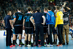 Players of PPD Zagreb during handball match between PPD Zagreb (CRO) and Paris Saint-Germain (FRA) in 11th Round of Group Phase of EHF Champions League 2015/16, on February 10, 2016 in Arena Zagreb, Zagreb, Croatia. Photo by Urban Urbanc / Sportida