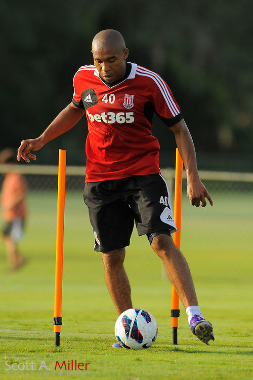 Stoke City Potters midfielder Wilson Palacios (40) during a training session at the Seminole Soccer Complex on July 27, 2012 in Sanford, Florida. ..©2012 Scott A. Miller..