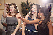 Rebecca photographed at her Bat Mitzvah party at the Wilshire Grand Hotel, West Orange, New Jersey.