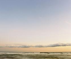 dusk at the beach in Westhampton, NY