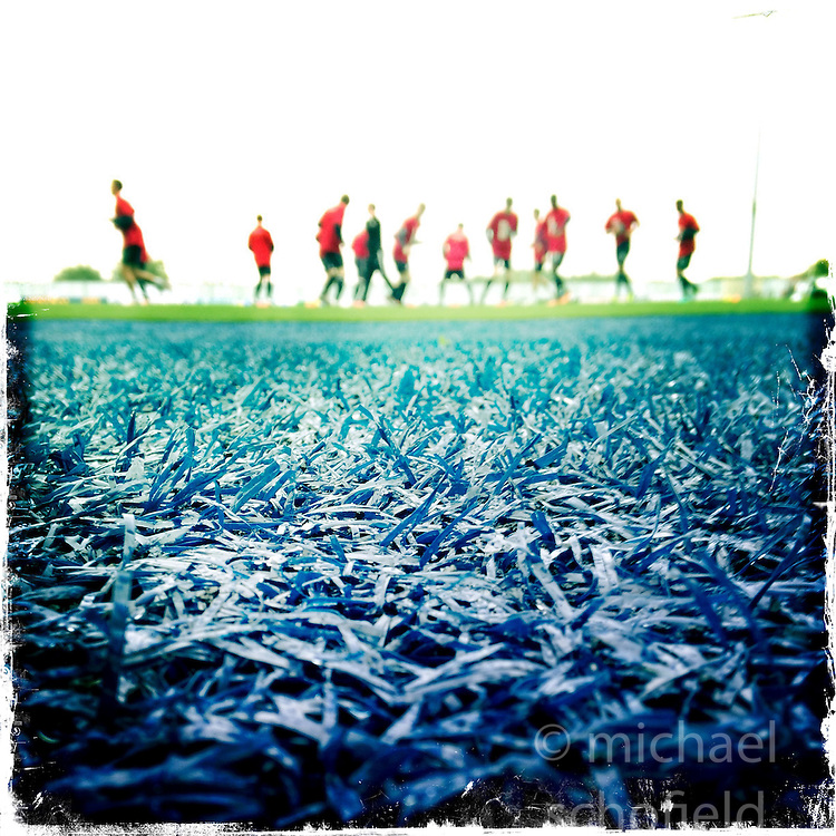 Falkirk FC players.<br /> Picture taken with the Hipstamatic iPhone photo app.