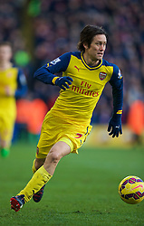 LONDON, ENGLAND - Saturday, February 21, 2015: Arsenal's Tomas Rosicky in action against Crystal Palace during the Premier League match at Selhurst Park. (Pic by David Rawcliffe/Propaganda)