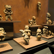 MEXICO CITY, MEXICO--The National Museum of Anthropology showcases  significant archaeological and anthropological artifacts from the Mexico's pre-Columbian heritage, including its Aztec and indiginous cultures.