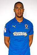 AFC Wimbledon defender Terell Thomas (6) during the official team photocall for AFC Wimbledon at the Cherry Red Records Stadium, Kingston, England on 8 August 2019.