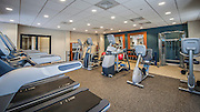 The newly remodled fitness area at the DoubleTree Hilton Airport in West Palm Beach, Florida.  Photography by Jeffrey A McDonald