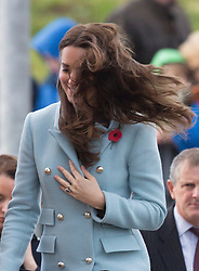 PEMBROKE- UK - 08-NOV-2014: Britain's The Duke and Duchess of Cambridge visit the Valero Pembroke Refinery, a significant employer and part of the local economy in West Wales for 50 years. The Pembroke Refinery was officially opened in 1964 by Queen Elizabeth The Queen Mother. It became the first major industrial employer in South Pembrokeshire since the closure of the Pembroke Dock in 1926. This year celebrates the Refinery&rsquo;s 50th anniversary and offers an opportunity to highlight the prosperity the Refinery has brought to the county, through employment and community engagement.<br /> Photograph by Ian Jones