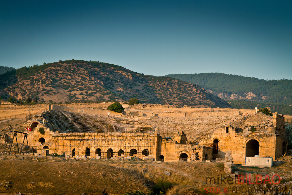 Theater. Hierapolis.<br /> Denizli province. Anatolia. Turkey.