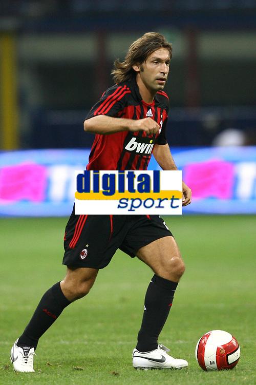 Fotball<br /> Italia<br /> Foto: Inside/Digitalsport<br /> NORWAY ONLY<br /> <br /> Milano 14.08.2007<br /> Trofeo Tim tra Inter Milan Juventus<br /> <br /> Andrea Pirlo (Milan)