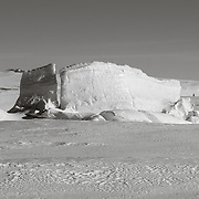 Ice pressure ridges