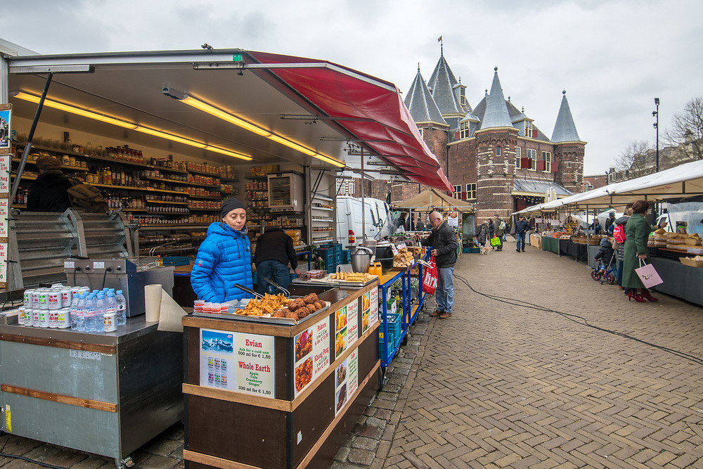 Food booth is well stocked in Amsterdam, Netherlands