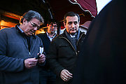 Republican presidential candidate, Sen. Ted Cruz, R-Texas, heads out after a meet and greet at Theo's Pizza and Restaurant in Manchester, N.H. Thursday, Jan. 21, 2016.  CREDIT: Cheryl Senter for The New York Times Ted Cruz