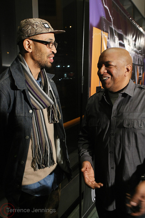 New York, NY-February 5: (L-R) DJ Rich Medina and Ralph McDaniels, founder, Video Music Box, attends the Video Music Box 30 Kick-Off Celebration held at The Schomburg Center for Research in Black Culture on February 5, 2013 in the village of Harlem, New York City. Created in 1983 by Ralph McDaniels, Video Music Box is one of the most influential television shows to give urban artists mainstream exposure. The series is the first to feature hip hop videos primarily.  (Terrence Jennings)