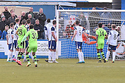 Forest Green Rovers Liam Noble(15) scores 0-1during the Vanarama National League match between Barrow and Forest Green Rovers at Holker Street, Barrow, United Kingdom on 28 January 2017. Photo by Mark Pollitt.