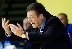 Aleksander Sekulic, head coach of Krka during basketball match between KK Krka and BC Azovmash Mariupol (UKR) of 4th Round of Regular season of Eurocup 2011/2012 on December 6, 2011, in Arena Leon Stukelj, Novo mesto, Slovenia.  (Photo by Vid Ponikvar / Sportida)
