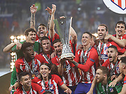 Atletico Madrid players celebrates during the Europa League Final match between Olympique de Marseille and Atletico Madrid at Orange Velodrome, Marseille, France on 16 May 2018. Picture by Ahmad Morra.