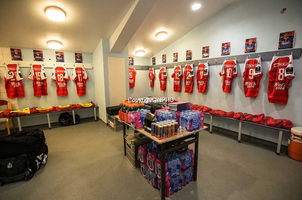 European Rugby Challenge Cup Semi-Final, The Twickenham Stoop, London, England 22/4/2016<br /> Harlequins vs Grenoble<br /> A view of the Grenoble dressing room <br /> Mandatory Credit &copy;INPHO/Dan Sheridan