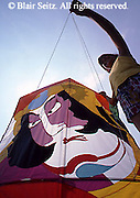 Outdoor recreation, Children Fly Decorated Kites in Park