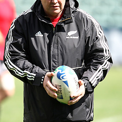 AUCKLAND, NEW ZEALAND - OCTOBER 05, Steve Hansen Assistant Coach during the New Zealand national rugby team training session and press conference at North Harbour Stadium on October 05, 2011 in Auckland, New Zealand<br /> Photo by Steve Haag