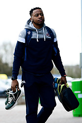Panos Mayindombe of Bristol Flyers arrives at SGS College Arena prior to kick off - Photo mandatory by-line: Ryan Hiscott/JMP - 16/02/2020 - BASKETBALL - SGS College Arena - Bristol, England - Bristol Flyers v Solent Kestrels - British Basketball League Trophy semi-final