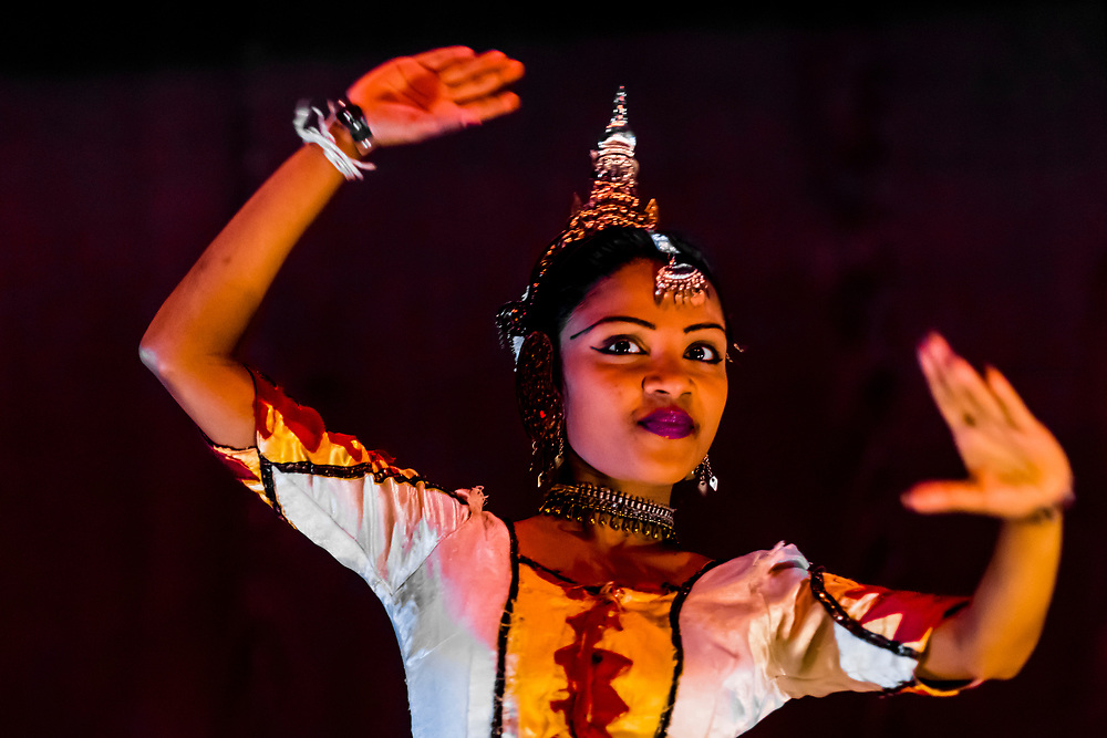 """Dances of Sri Lanka"" cultural performance, Kandy, Central Province, Sri Lanka."